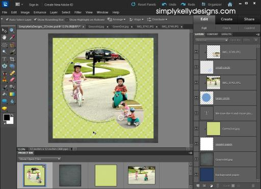 How To Use A PSD Template In Photoshop Elements 10 - Simply Kelly Designs