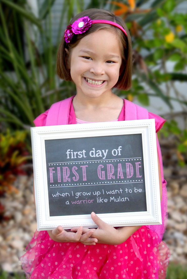 First Day of School Faux Chalkboard - Simply Kelly Designs