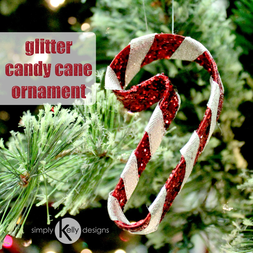 Glitter Candy Cane Ornament | Simply Kelly Designs