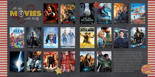 2013 Year In Review Layout Inspiration: Movies Watched