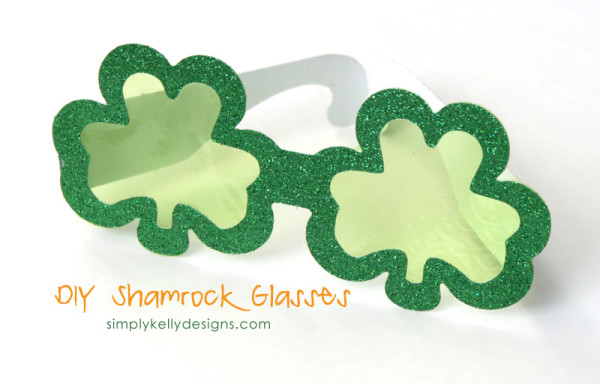 DIY Shamrock Glasses by Simply Kelly Designs