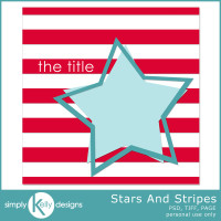 Stars and Stripes Template