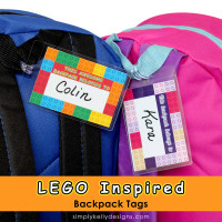 LEGO Inspired Printable Backpack Tags