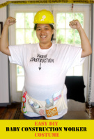 Easy DIY Baby Construction Worker Costume For During Pregnancy