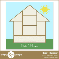Digital Scrapbook Day Sales and Our Home Digital Scrapbook Template