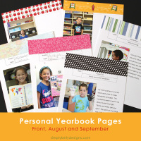 Personal Yearbooks - Front Page, August and September