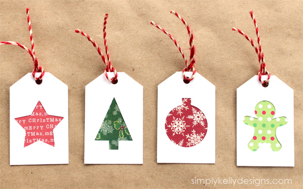 DIY Christmas Gift Tags With Scrapbook Paper Scraps And Free Cut File ...
