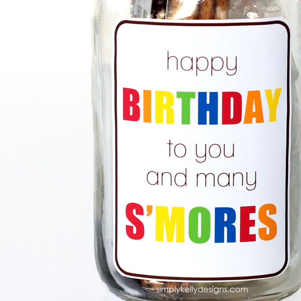 ... Smores In A Mason Jar Gift With Free Printable » Simply Kelly Designs