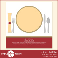 Turkey Time and Our Table Digital Scrapbook Templates