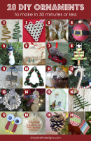20 DIY Christmas Ornaments To Make In 30 Minutes Or Less