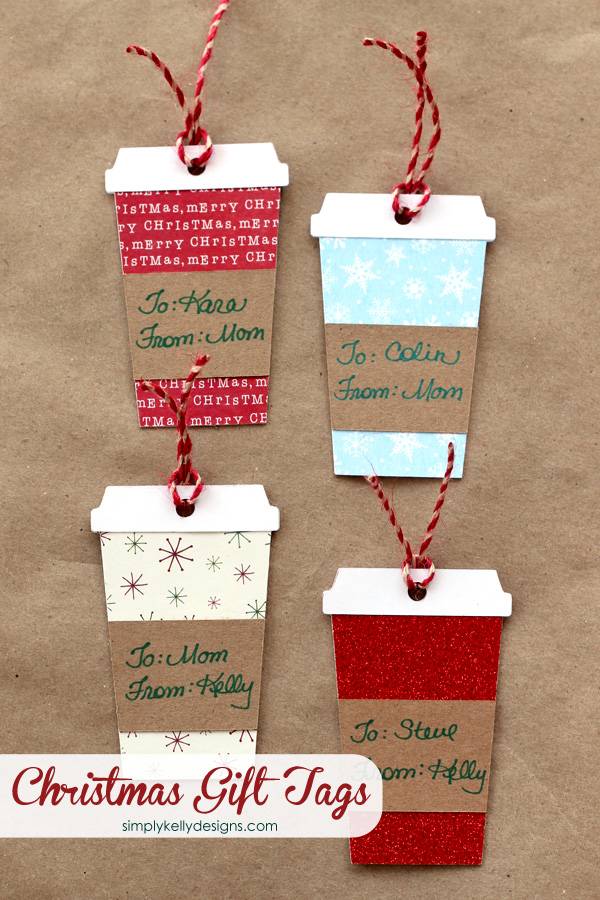 Coffee or latte container christmas gift tags with free for Homemade christmas gift certificates templates