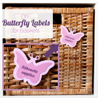 DIY Butterfly Labels For IKEA BRANÄS Rattan Basket