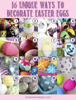 16 Unique Ways To Decorate Easter Eggs