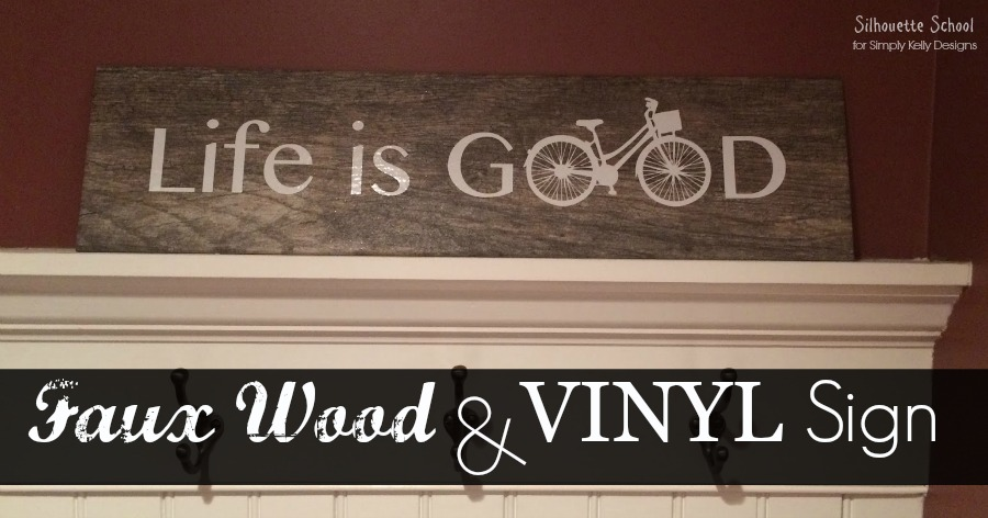 Life Is Good Faux Wood Sign