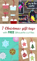 7 Christmas Gift Tags With Free Silhouette Cut Files